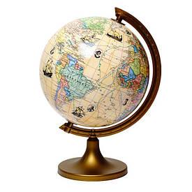 Глобус з маршрутами землепрохідців з описом Glowala 250 мм (рос.) 540087