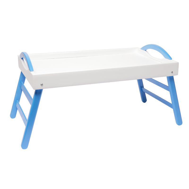 Столик для завтрака в постели Бело-голубой