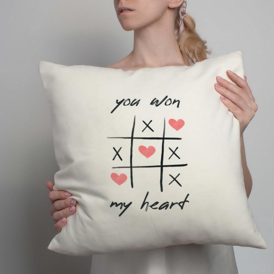 "Подушка ""You won my heart"""