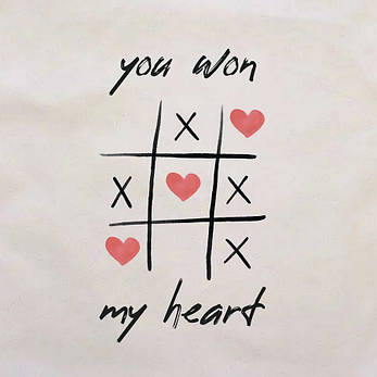 "Подушка ""You won my heart"", фото 2"