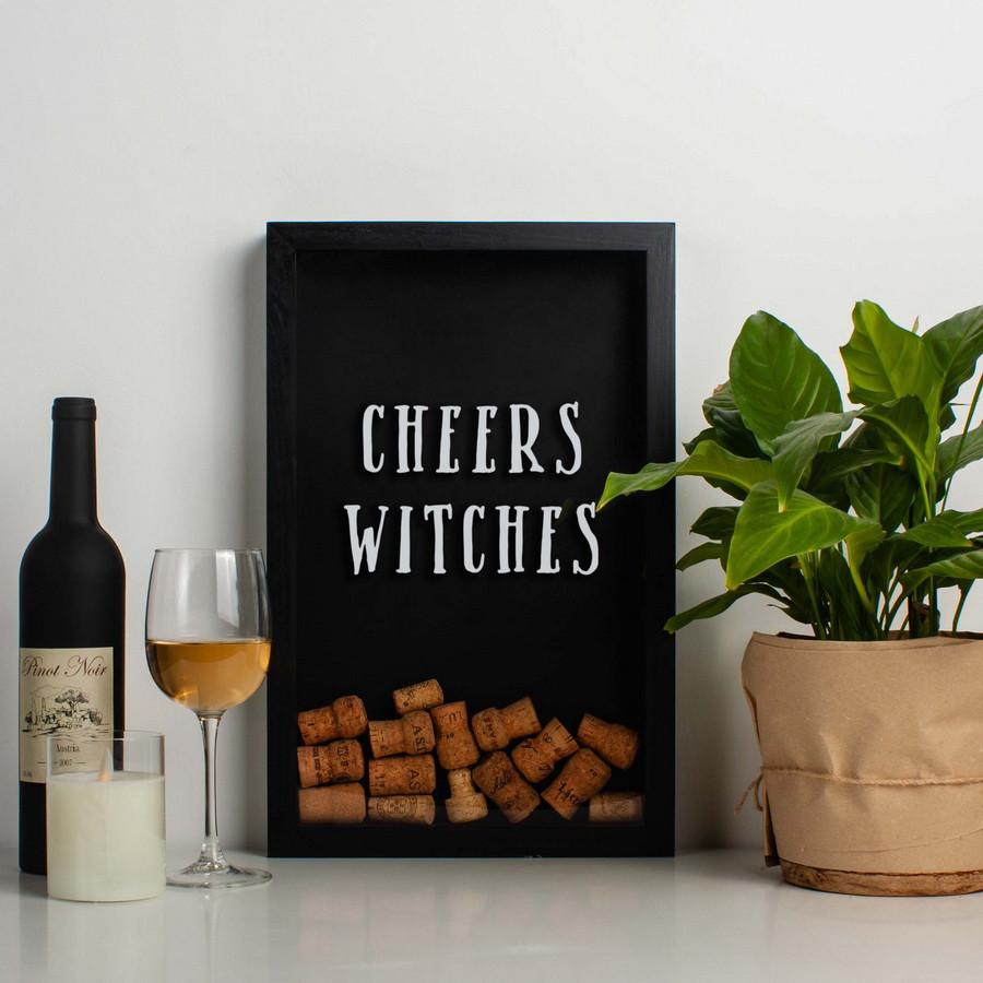"Копилка для винных пробок ""Cheers witches"""