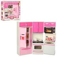Мебель кухня, 35-32-6см, посуда, продукты, звук,свет, на батарейке(таб), в коробке, 42-36-8,5см