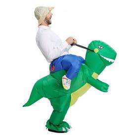 Надувний костюм Вершник на дінозавра