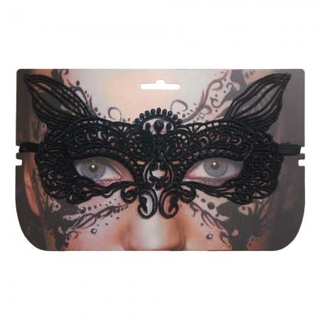 Кружевная маска Секрет Лисички (черная)