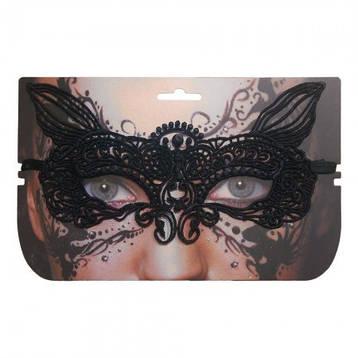 Кружевная маска Секрет Лисички (черная), фото 2