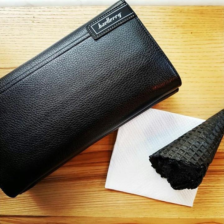 Мужской вместительный клатч (бумажник, барсетка) Baellerry Gross.Black