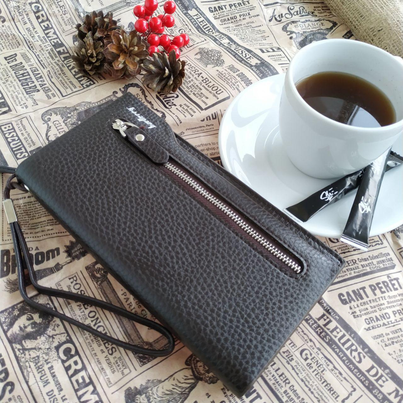 Мужской бумажник Baellerry Monaco (портмоне, кошелек, клатч) Коричневый.