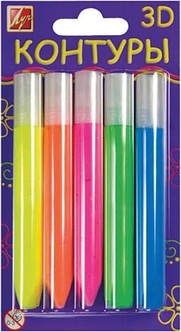 Набор контуров 3Dфлуоресцентные 5 цв 10мл 23С1438-08, фото 2