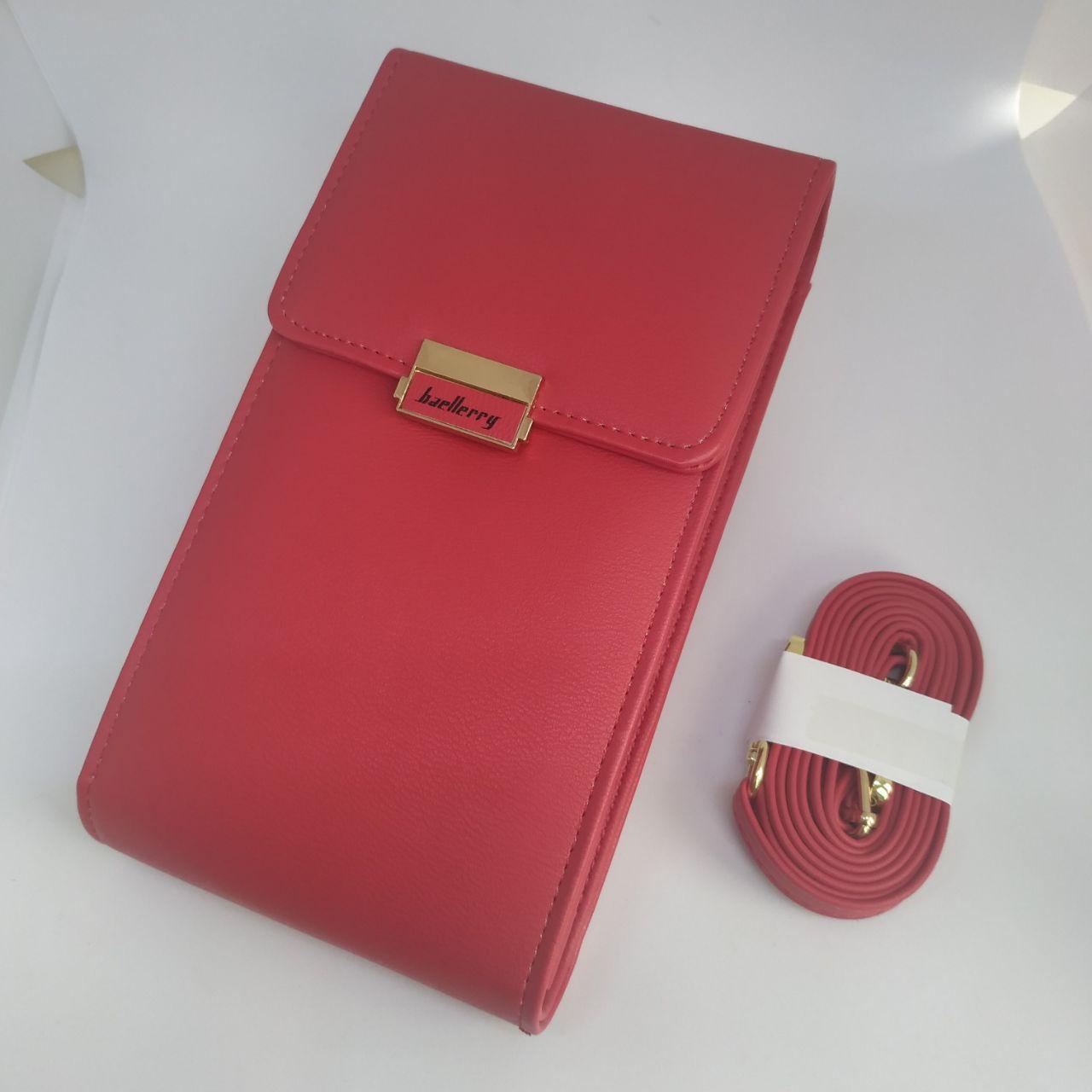 Женская сумочка для телефона Baellerry.  Красная