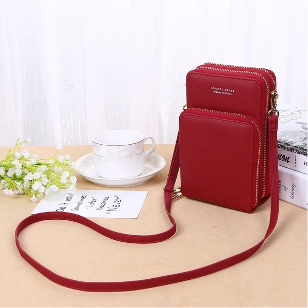 Женская сумочка Baellerry на ремешке из эко-кожи  Красная