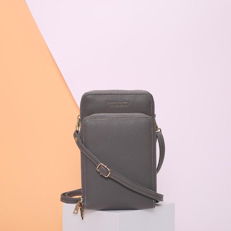 Женская сумочка Baellerry на ремешке из эко-кожи Серая