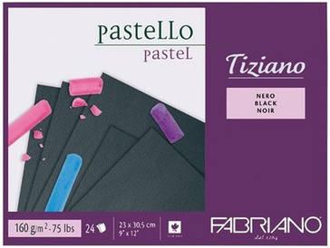 Альбом-склейка для пастели A4 Fabriano Tiziano 160г/м2 черная бумага 24л (8001348159032)