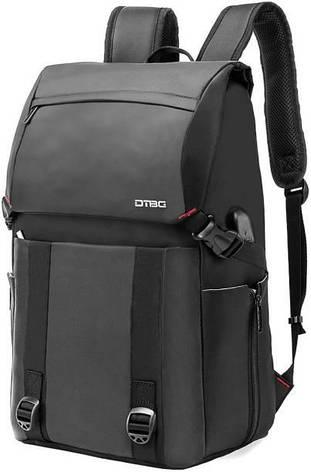 Рюкзак мужской городской с USB портом BST 320038 47х31х18 см. черный, фото 2