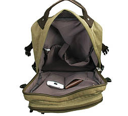 Рюкзак мужской городской BST 280013 41х30,5х11,5 см. хаки, фото 3