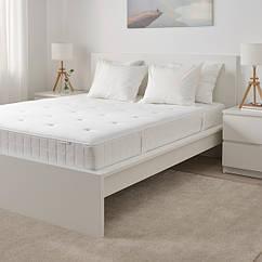 H IKEA  ХІЛЛЕСТАД (004.258.57) Матрац із блоком незалежних пружин, жорсткий/білий, 160x200 см