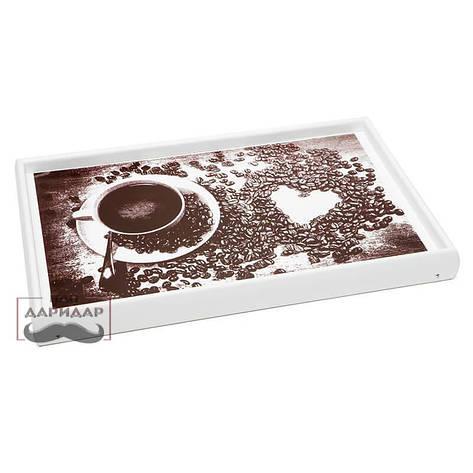 """Столик для завтрака Пан Даридар Молочный 52х32 см в постель  """"Кофейное утро"""", фото 2"""