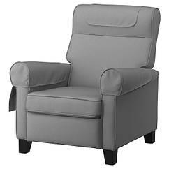IKEA MUREN МУРЕН (004.385.53) Крісло розкладне, РЕММАРН світло-сірий