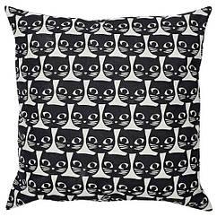 IKEA GERDIE ГЕРДІ (604.106.31) Подушка  - білий/чорний кіт
