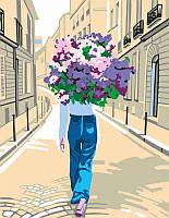 Набор картина по номерам Rosa Start акриловая живопись Сиреневое настроение 35x45см (4823098503224)