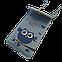 Женская сумочка для телефона. Совушка, голубая. Стильная, яркая, ручная роспись, фото 2