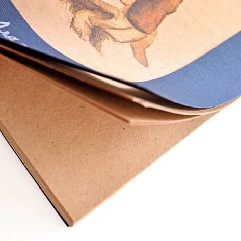 Альбом для эскизов ЗХК А5 50л 70г/м2 Собачка крафтовая бумага склейка 353091, фото 2