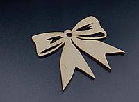 Деревянная новогодняя игрушка заготовка украшение из фанеры Бантик 100*85 мм, толщина 3 мм. Новорічна прикраса