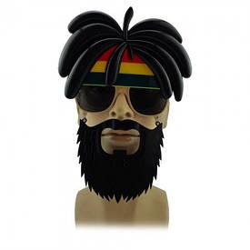 Окуляри з вусами і бородою Растаман