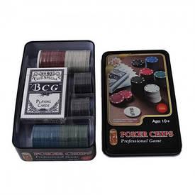 Покерний набір на 80 фішок і карти