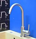 Высокий латунный смеситель для кухни на мойку матовый Haiba HANS 011 (HB0164), фото 3