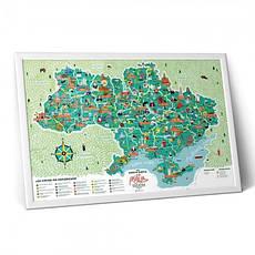 Скретч карта Украины МОЯ РІДНА УКРАЇНА, фото 3