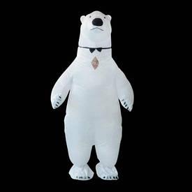 Надувний костюм Білий Ведмідь