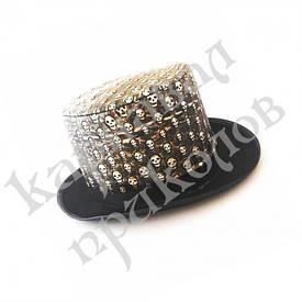 Шляпа Цилиндр с черепами (кожа+фетр)