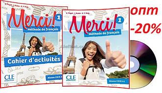 Французский язык / Merci/ Livre+Cahier Activites. Учебник+Тетрадь (комплект), 1/ CLE International
