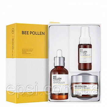 Восстанавливающий набор для лица MISSHA Bee Pollen Renew Special Set, 3 шт