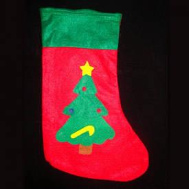 Різдвяний носок з аплікацією