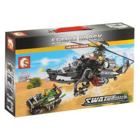 "Конструктор ""Sembo Block: Вертолет"" 502 детали, фото 2"