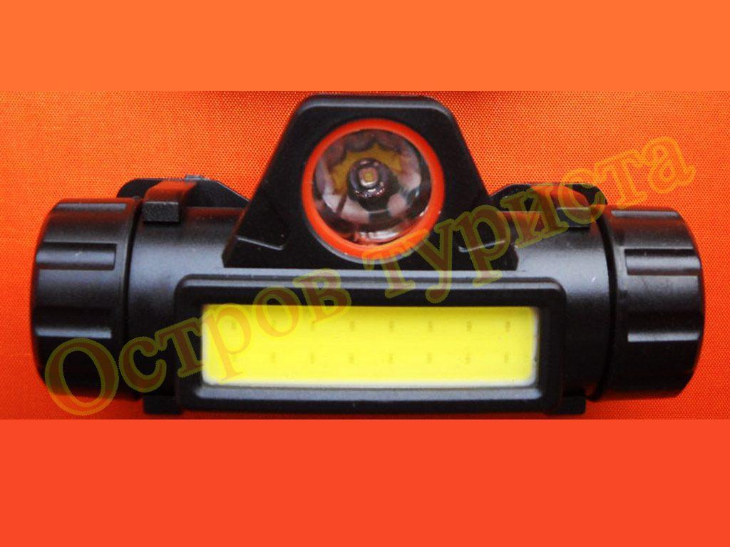 Фонарь налобный аккумуляторный WX-8101 XPE COB с магнитом