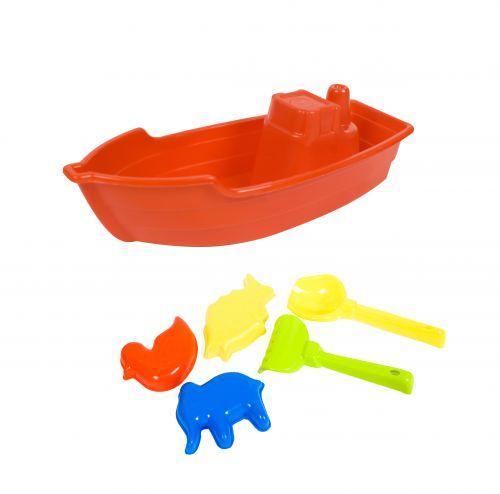 Лодочка с песочным набором (красная) KW-01-115