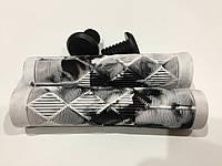 Грипсы мягкие Explore 13.5 см для трюкового самоката с заглушками белые, фото 1