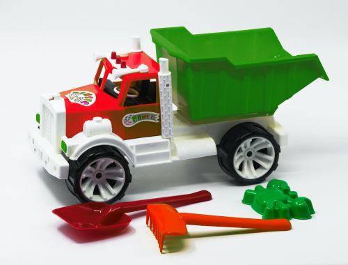 Машинка самосвал с пасочками (зелёный) 008, фото 2