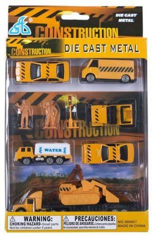 """Игрушечный набор мини машинок """"Construction"""" 10 элементов, фото 2"""