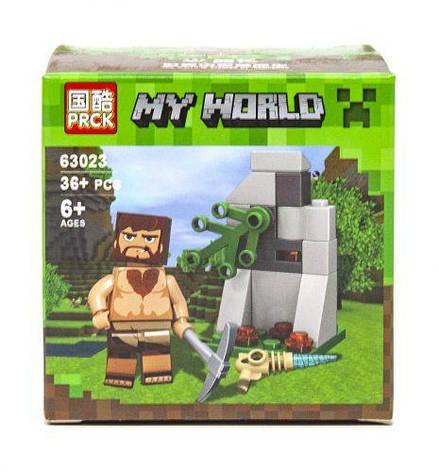 Конструктор Minecraft Копатель 36 деталей 63023, фото 2