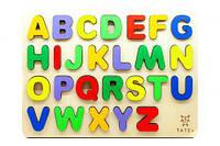 """Рамка-пазл """"Азбука"""" англ, Tatev, деревянные игрушки,деревянные рамки-вкладыши,рамка вкладыш,сотер"""