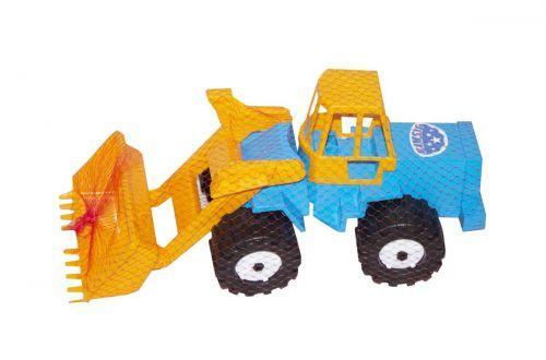 """Трактор """"Шустрик -скрепер"""" №1 (синий)"""