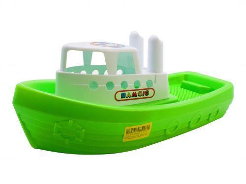 Кораблик Баркас (зелёный) 091