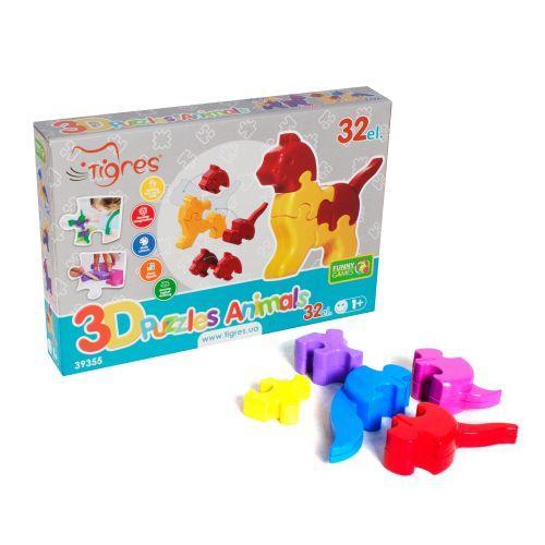 """3D пазлы """"Животные"""" (32 эл)"""