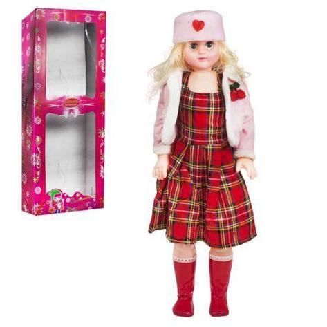 Кукла музыкальная, 75 см (платье в клеточку), фото 2