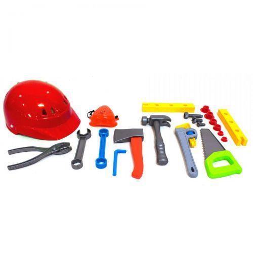 Набор инструментов Юный плотник (20 шт) (красная каска) KW-32-003 (2)
