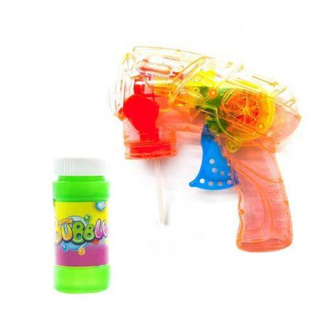 Пистолет с подсветкой, пускающий пузыри (оранжевый) 3F-8, фото 2