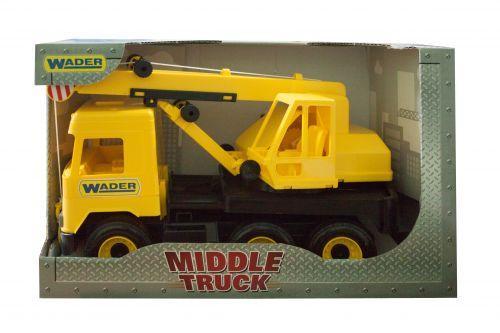 """Авто """"Middle Truck"""" кран (желтый)"""